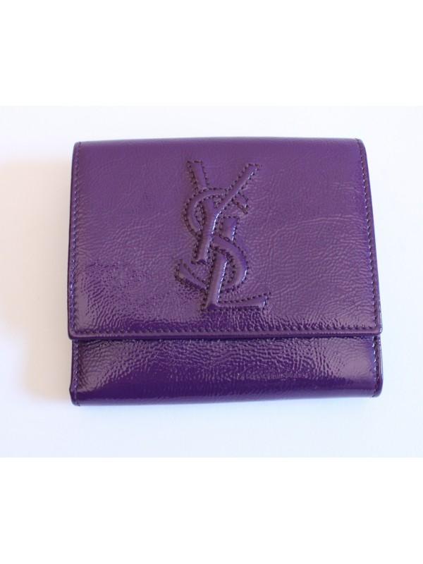 portefeuille yves saint laurent vernis violet. Black Bedroom Furniture Sets. Home Design Ideas
