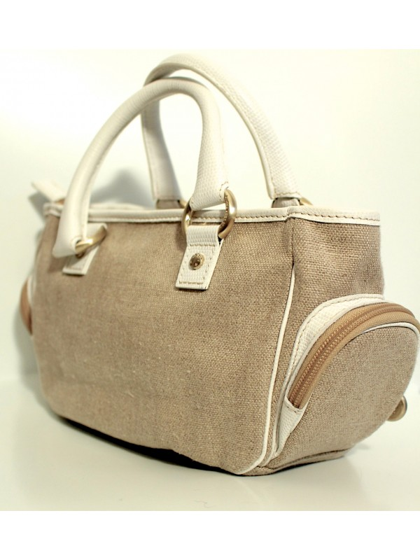 Accroche Sac à Main Lancel : Sac lancel toile beige secondemaindeluxe