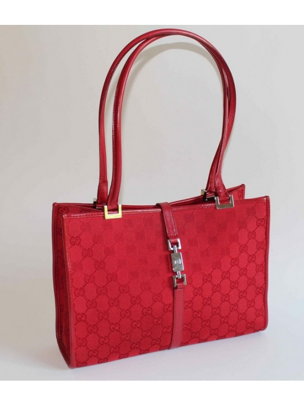 Sac Gucci toile monogramme rouge - SecondeMainDeLuxe a920b2ec181