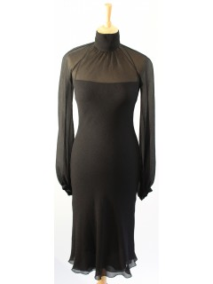 Robe Hermes noire taille 36