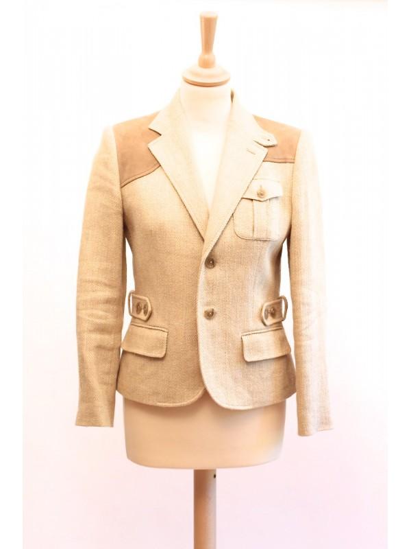 Veste Ralph Lauren taille 36 beige - SecondeMainDeLuxe d92a6505df7