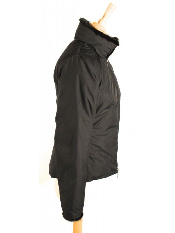 Veste doudoune Moncler noire légère taille 34 36 - SecondeMainDeLuxe d236c6532ff