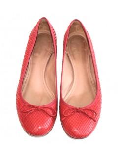 Ballerines pyton rouge Céline 37