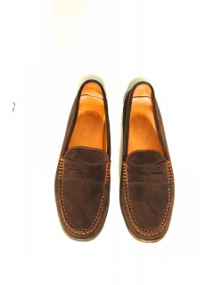 Mocassins Tod's Daim marron taille 38