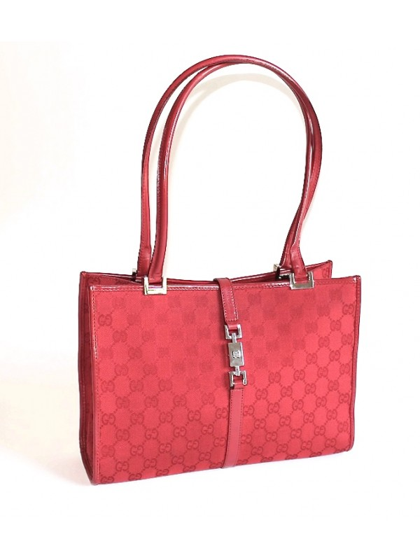 Los Angeles 07516 703b8 Sac Gucci toile rouge - SecondeMainDeLuxe