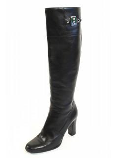 Bottes Hermès cuir noir taille 37 -38