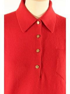 Pull Hermès cachemire rouge taille M-L