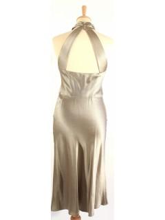 Robe Ralph Lauren soie beige nacre taille 2
