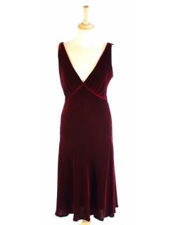 Robe Ralph Lauren taille 36 velours bordeaux