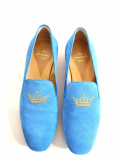 Slippers Church's en daim bleu taille 37