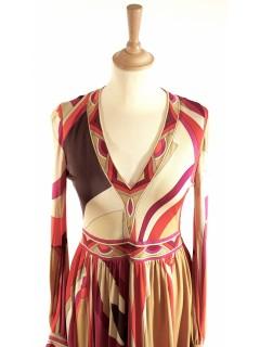 Robe Leonard vintage taille 38