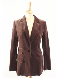 Veste Hermès velours taille 38 parme