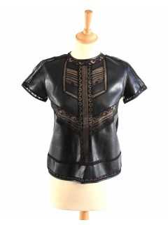 Top cuir Ermano Cervino taille 36