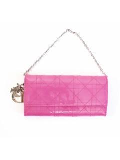 Pochette Dior vernis rose