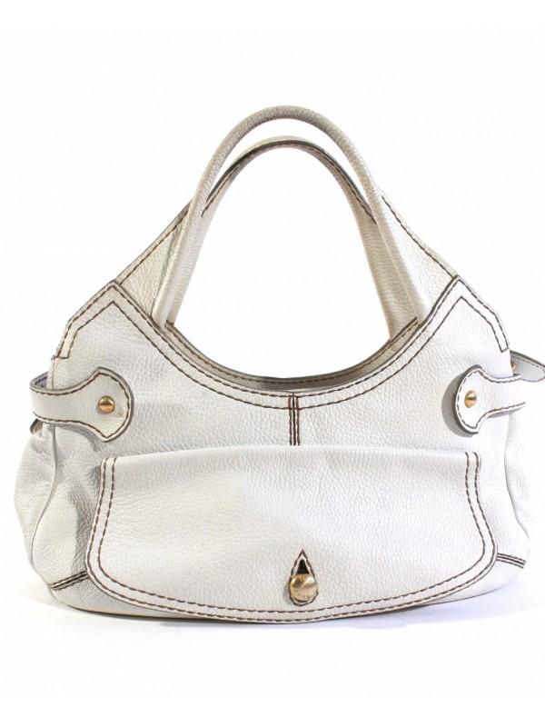 design intemporel 8532b 8a1e3 Sac Tod's blanc et portefeuille - SecondeMainDeLuxe