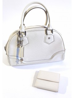 Sac Louis Vuitton et portefeuille blanc