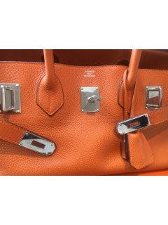 Sac Hermès orange  Birkin