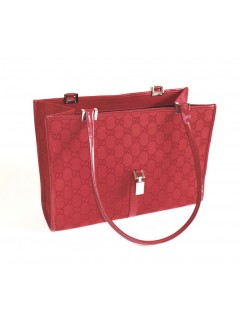 Sac Gucci toile monogramme rouge