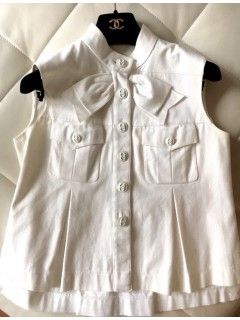 Top CHANEL blanc taille 36